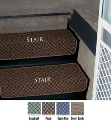 Exceptional Step Huggers For Stair Steps 23.5 InchW Pecan