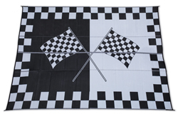 Rv Rug, Reversible, 6 ft x 9 ft, Racing
