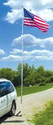 Telescopic Fiberglass Flag Pole Kit