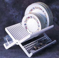 Compact Folding Rv Dish Rack
