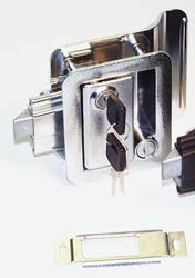 Chrome RV Door Lock
