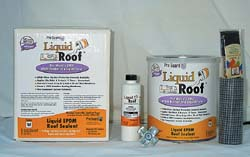 RV Liquid Rubber Roof Kit, White, 4 Gallon