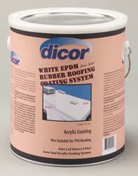 RV Roof Coating White Acrylic 1 Gallon