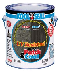 Camper Roof Patch & Coat Black-1 Gallon