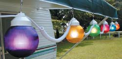 Globe RV Awning Patio Party Lights - MULTI-COLORED 6pk items in