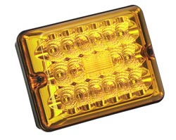 86 LED Turn Amber w/ Black Case
