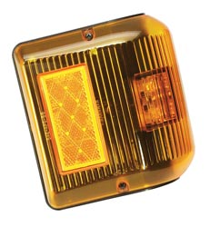 LED Wrap-Around Clearance Light Amber w/Black Base