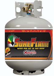 RV Sureflame Steel LP Gas Cylinder