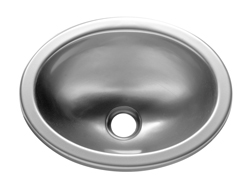"RV Sink, Lavatory, ABS/Acrylic Capped,Brushed Nickel, 13"" x 10-1/4""x 5 1/2"""