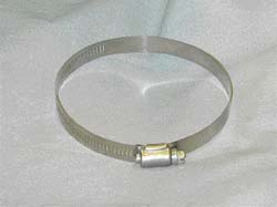 "Hose Clamp, Stainless, 3-1/8"" - 5"", each"