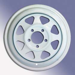 "8-Spoke Wheel - 15"" x 5-1/2"" White"