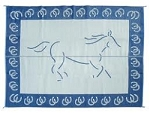 RV Patio Mat, Reversible Horse, 9'x12' Blue