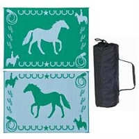 Ming's Mark Lucky Horse Mat In Green 9'x12'