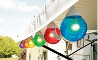 RV Globe Light Multi-Color 10 Pack Awning  Party Lights