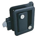 Black RV Entrance Door Lock
