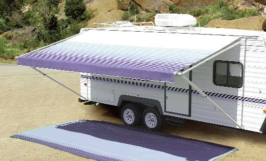 Carefree Fiesta Awning Sierra Brown And White 14