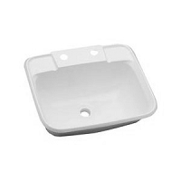 RV Utility Sink, Plastic, White