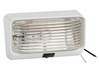 RV Exterior Clear Porch Light with Switch
