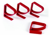 Tablecloth Clamps - Plastic - Red