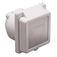 Marinco White 125 Volt/ 30 Amp Power Receptacle