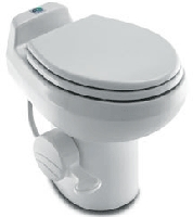 Dometic 310 Light Weight Standard Profile White RV Toilet w/ Hand Spray