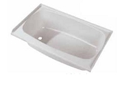 Bathtub; Rectangular; 36 Inch Length x 24 Inch Width x 12 Inch Depth- parchment, front center drain