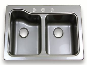 Lippert 25 Quot X 19 Quot Stainless Steel Double Sink