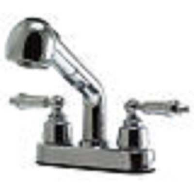 Rv Kitchen Faucet With Pull Out Sprayer 4 Quot 2 Hole Chrome