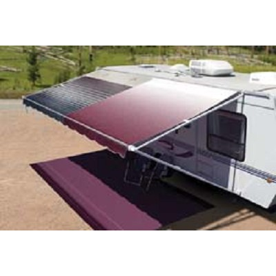 Rv Awning Vinyl Canopy Replacement, 15 ft, Burgundy Fade