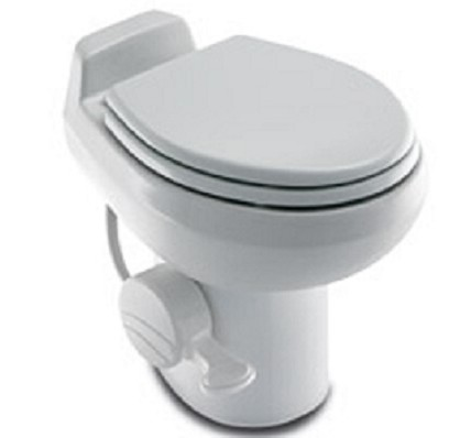 Dometic RV Toilet -Sealand Traveler 510HS- White With Hand Spray- 302951001