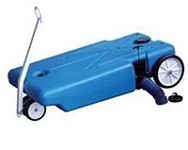 32 Gallon Rv Portable Tote Tank- 4 Wheels -Barker