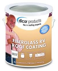 Dicor Fiberglass Rv Roof Coating 1 Quart