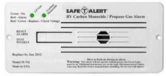 RV Carbon Monoxide/LP Gas Alarm, White