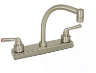 "RV Faucet, 8"", Lavatory, Brushed Nickel"