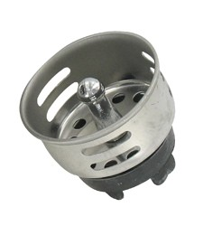 "1.5"" Chrome RV Sink Basket Strainer"