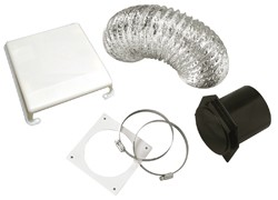 Deluxe Dryer Vent Kit, Paintable