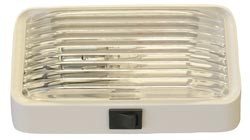 Camper Porch Light With Switch -White