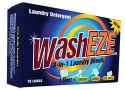WASHEZE LAUNDRY SHEETS - DETERGENT, SOFTENER, STATIC GUARD