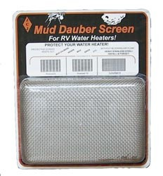 Mud Dauber Water Heater Screen