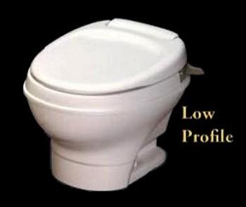 Thetford Rv Toilet Aqua Magic V Low Profile Hand Flush, Parchment