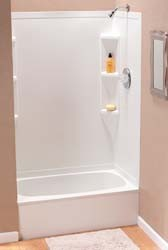 "Rv Tub Shower Surround 36"" x 24"" x 62"" White DWCS013662"