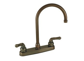 8'Kitch Fauc Gneck Spout Bronze