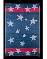 Faulkner 8 Feet Width x 20 Feet Length With Stars And Stripes Camping Mat