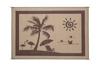 Camping Mat Brown/ Beige Beach Pattern