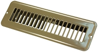 JR Products Heating/ Cooling Register  Without Damper; Powder Coated; Brown; Steel