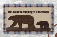 Kittrich Corp Door Mat STRB-14855-20 Life Without Camping Is Unbearable