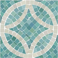 Kittrich Corp Carpet  FLRA-12N017-06 Seaglass Mosaic Pattern