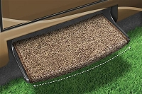 Entry Step Rug, Wraparound (R) Radius (TM), Wrap Around Hook And Spring, 22 Inch Width, Brown
