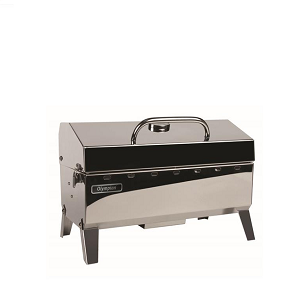 Barbeque Grill; Propane; 160 Square Inch Grilling Surface; Rectangular; Polished; Stainless Steel