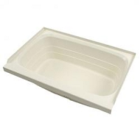 Lippert  Standard Tub 24 Inch x 36 Inch  Center Drain Parchment ABS